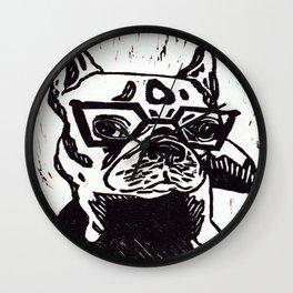 Louie The French Bulldog Wall Clock