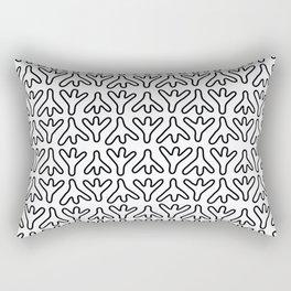 Chicken Feet - Geometric Pattern (Black) Rectangular Pillow