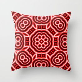 Neon Red Throw Pillow