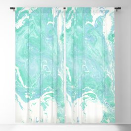 Marble texture background, white blue green marble pattern Blackout Curtain