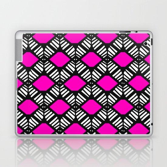 Fuchsia Diamonds Laptop & iPad Skin