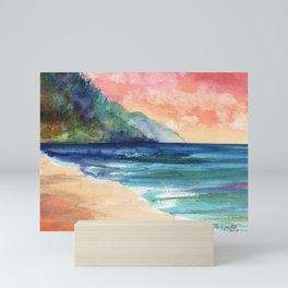 Ke'e Beach Mini Art Print