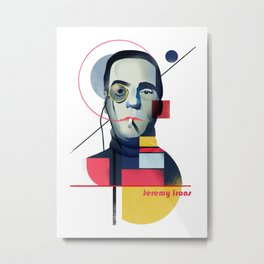 Famous people in a bauhaus style - Jerony Irons Metal Print