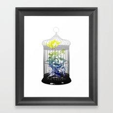 Green Finches Framed Art Print