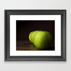 Little Green apples Framed Art Print