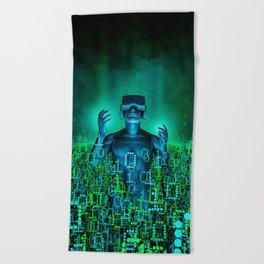 Virtual Dawn Beach Towel