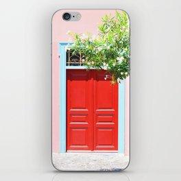 223. Red Door, Greece iPhone Skin