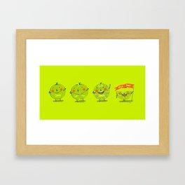 Lime emotions  Framed Art Print