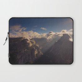 Sunrays Over Half Dome Laptop Sleeve