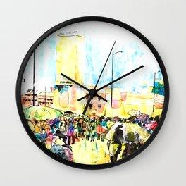 La marcha de Bogotá Wall Clock