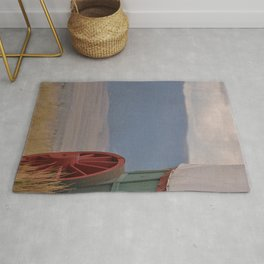 COVERED WAGON - END OF THE OREGON TRAIL Rug