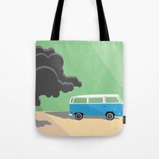Dharma Van vs Smoke Monster Tote Bag