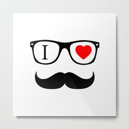 I Love Hipster Metal Print