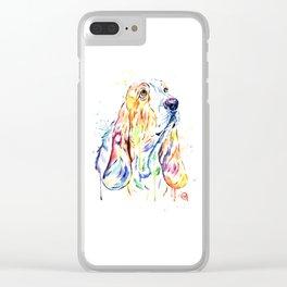 Basset Hound Clear iPhone Case