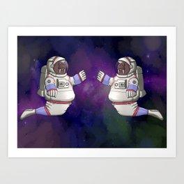 Walrus Astronaut Art Print