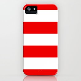 Stripe Red White iPhone Case