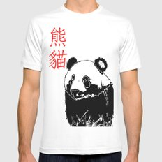 Panda MEDIUM White Mens Fitted Tee