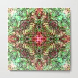 Sandala Red & Green Metal Print