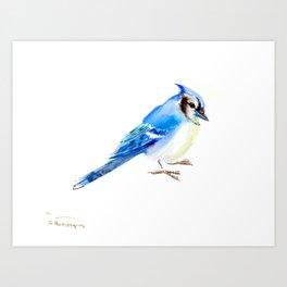 Blue Jay design. blue jay home decor Art Print