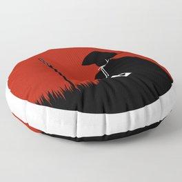 Meditating Samurai Warrior Floor Pillow