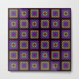 Granny square pattern Metal Print
