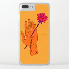 Wounded Hand - Golden yellow Clear iPhone Case