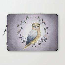 A Long Eared Owl On A Laurel Laptop Sleeve