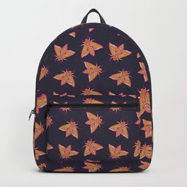 Nature moth - elephant hawk moth with leaves Backpack