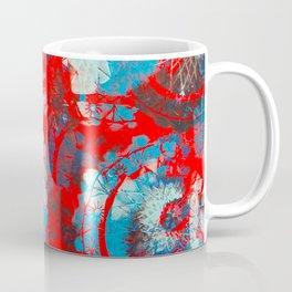 Red and blue mandalas Coffee Mug