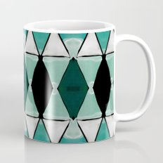 Art Deco Triangles Blue Coffee Mug