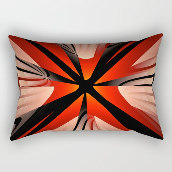 Winter abstract with red Rectangular Pillow