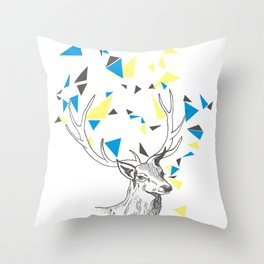 Rainbow Collection / deer Throw Pillow