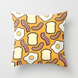 Breakfast Pattern Throw Pillow