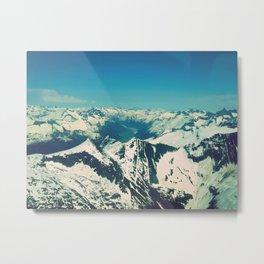 Mountain Peaks | Photography Metal Print