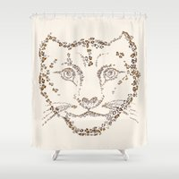 leopard Shower Curtains featuring Leopard by CarmanPetite
