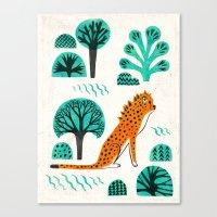 jaguar Canvas Prints featuring  Jaguar by HuiSkipp