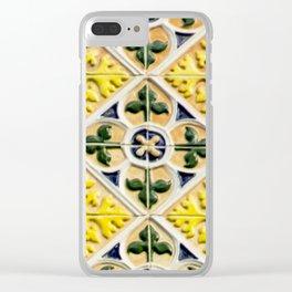 Portuguese azulejos Clear iPhone Case