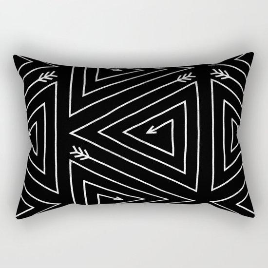 Arrow Triangle  Rectangular Pillow