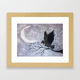 Keyhole Raven Framed Art Print