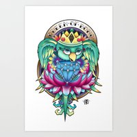 bird with diamond Art Print