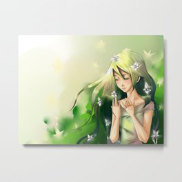 Rusalka - the swamp fairy Metal Print