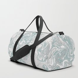 Glamorous Marble Teal and Smoke Pink Duffle Bag