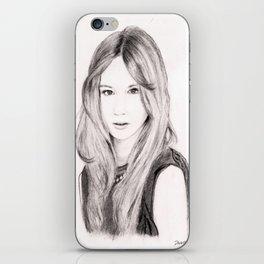 Female face 3 iPhone Skin