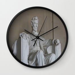 President Lincoln Statue - Washington DC Wall Clock