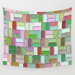 Retro Blocks Wall Tapestry
