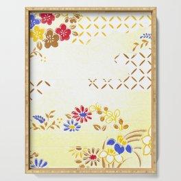 Vintage Japanese Pattern Serving Tray