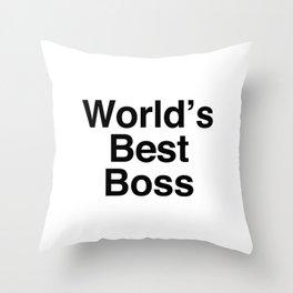 World's Best Boss Throw Pillow