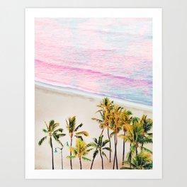 Pink Ocean #digital #graphic #nature Art Print