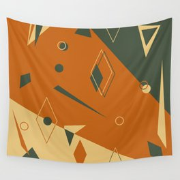 Geometrical style print illustration Wall Tapestry