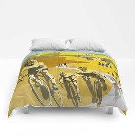 Strade Bianche retro cycling classic art Comforters